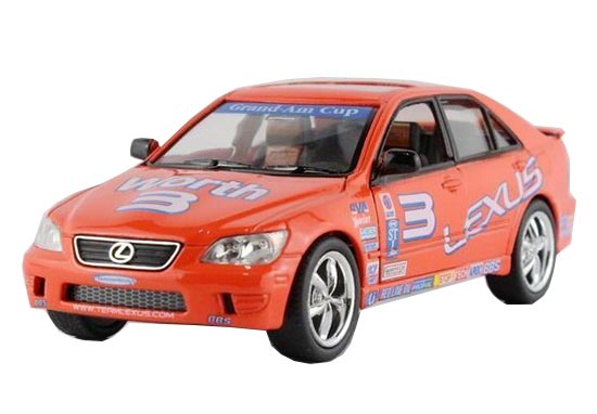 Kids 1:36 Orange NO.3 Diecast Lexus IS300 Toy