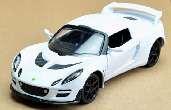 Black / White / Red / Yellow 1:32 Diecast Lotus Exige Scura Toy