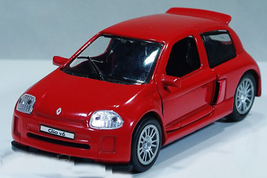 Yellow /Red /White /Blue /Silver /Black Diecast Renault Clio V6
