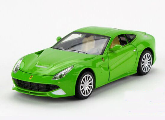Kids 1:32 Yellow / Green / Red / Black Diecast Ferrari F12 Toy