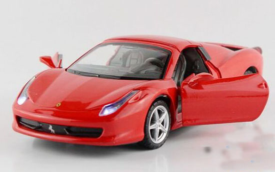 Blue / Yellow / Red / White 1:32 Kids Diecast Ferrari 458 Toy