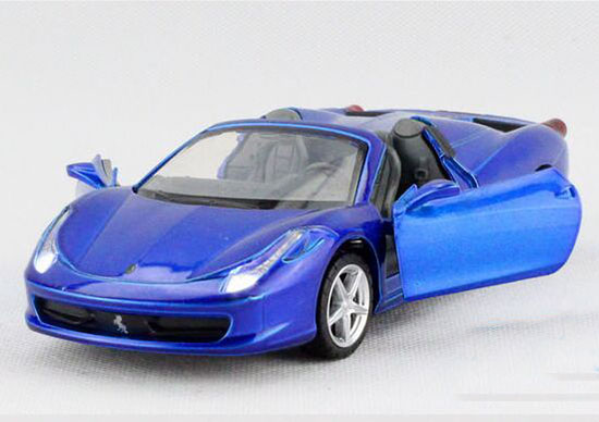 1:32 Kids Blue /Yellow / Red / White Diecast Ferrari 458 Spyder