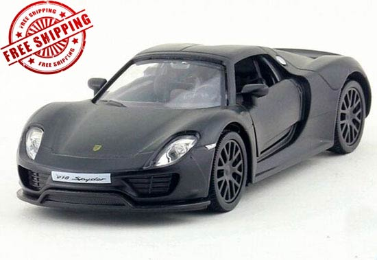 Kids 1:36 Scale Black Diecast Porsche 918 Spyder Toy