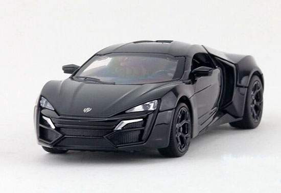 Kids 1:32 White / Blue / Black / Red Diecast Lykan Hypersport