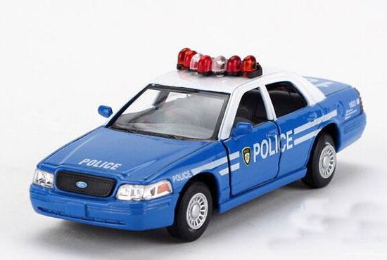 Kids Blue 1:36 Scale Police Diecast Ford Crown Victoria Toy