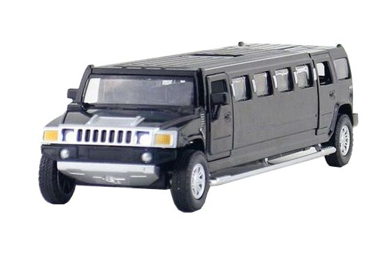 Black / Red / Yellow Kids 1:32 Scale Diecast Hummer H3 Toy