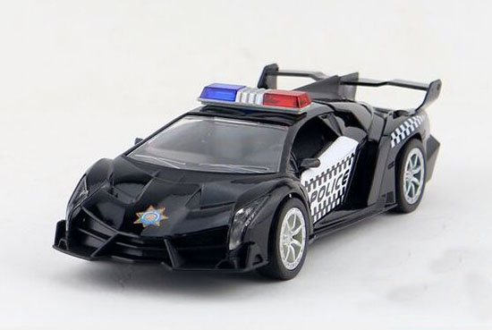 Black / Red / Blue 1:32 Police Diecast Lamborghini Veneno Toy