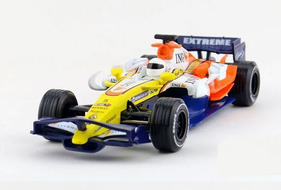 Yellow-Blue Kids 1:24 Scale Diecast Ferrari F1 Toy