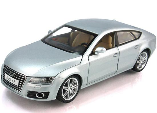 Kids 1:24 Wine Red / Silver Diecast Audi A7 Toy