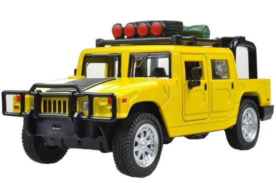 Green / Yellow / Red Kids 1:32 Diecast Hummer Toy