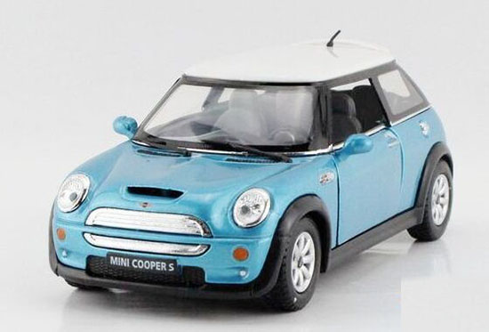1:36 Blue / Red / Yellow / Green Kids Diecast Mini Cooper S Toy