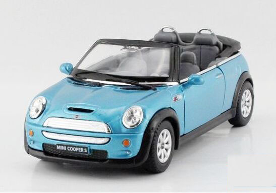 1:36 Kids Blue / Red / Yellow /Silver Diecast Mini Cooper S Toy