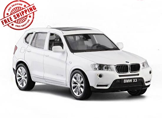 1:32 Kids White / Red / Orange Diecast BMW X3 Toy