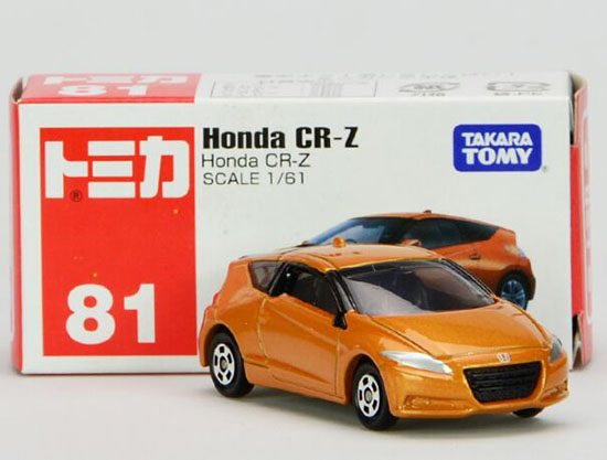 Orange 1:61 Mini Scale Tomica Diecast Honda CR-Z Toy