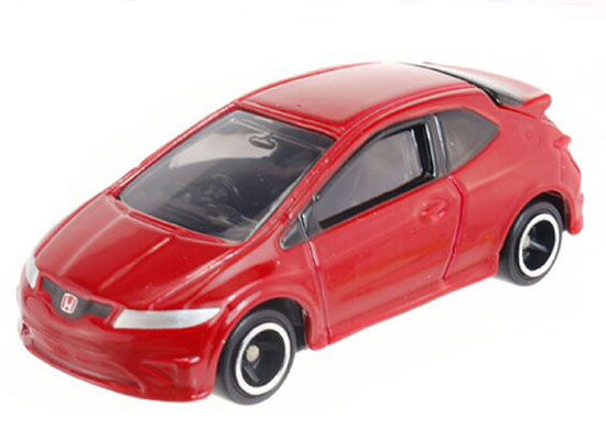 Kids 1:68 Mini Scale Red Diecast Honda Civic Type R Euro Toy