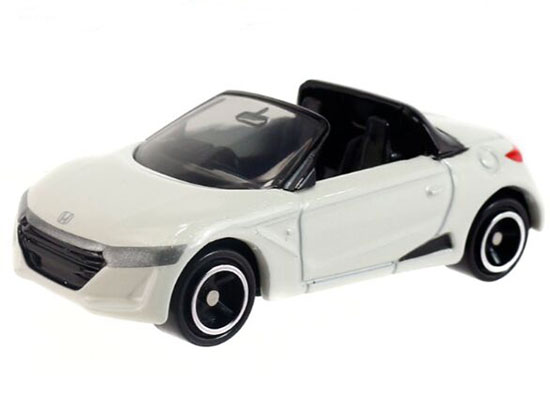 1:56 Mini Scale Kids White / Yellow Diecast Honda S660 Toy