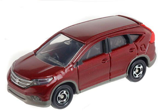 1:66 Mini Scale Wine Red Kids NO.118 Diecast Honda CR-V Toy
