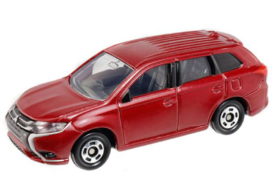 1:63 Red / Silver NO.70 Diecast Mitsubishi Outlander Phev Toy