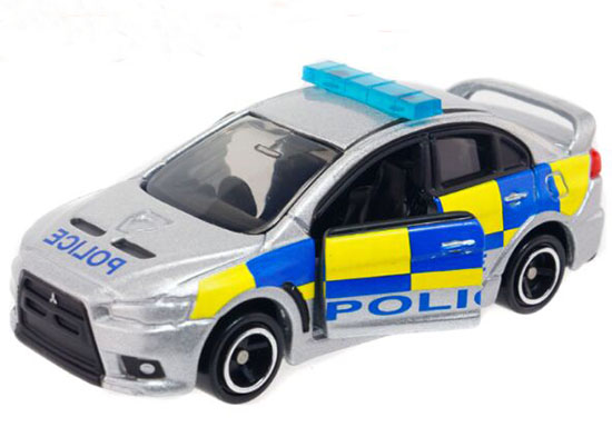 Silver NO.39 Police Diecast Mitsubishi Lancer Evolution X Toy
