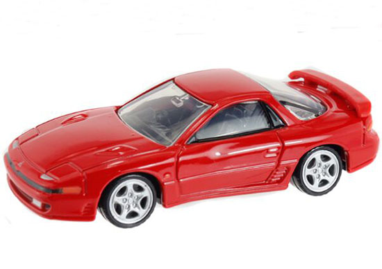 Red NO.18 Kids 1:63 Diecast Mitsubishi GTO TWIN TURBO Toy