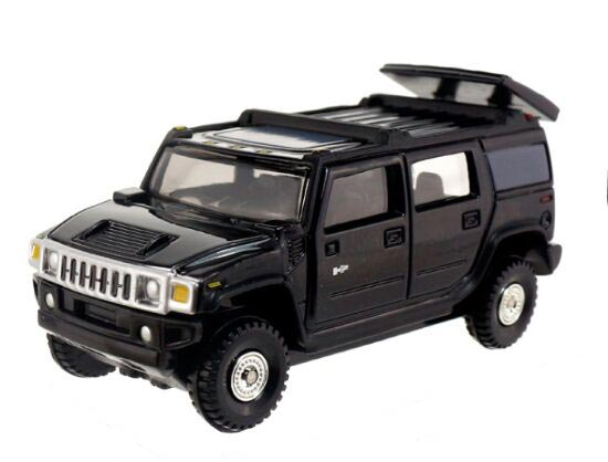 Kids 1:67 Scale Black NO.15 Diecast Hummer H2 Toy