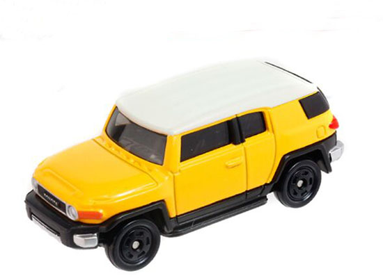 Yellow 1:66 Scale Kids NO.85 Diecast Toyota FJ Cruiser Toy