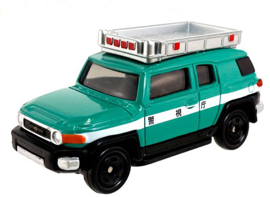 Green Kids NO.31 Diecast Toyota FJ Cruiser Police Car Toy
