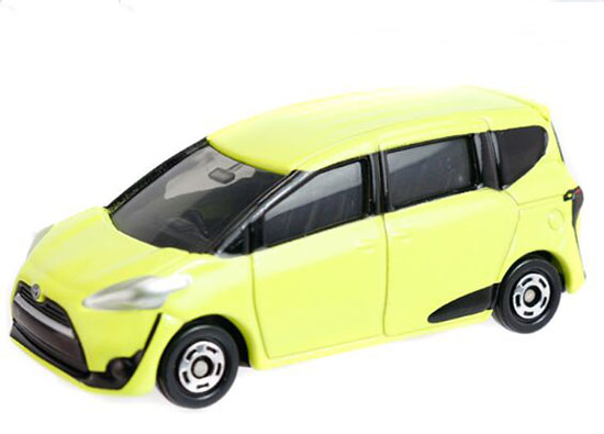 1:60 Scale Yellow Kids NO.99 Diecast Toyota SIENTA Toy