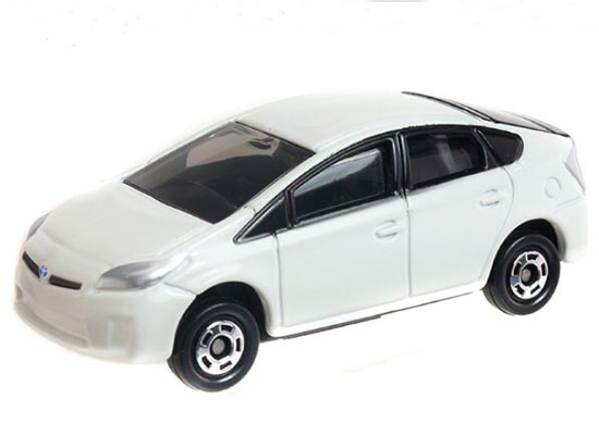 White 1:60 Scale Kids NO.89 Diecast Toyota Prius Toy