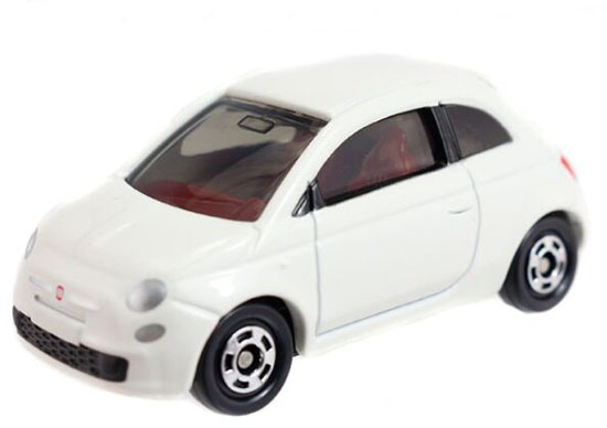 White 1:59 Scale Tomy Tomica Kids NO.90 Diecast Fiat 500 Toy