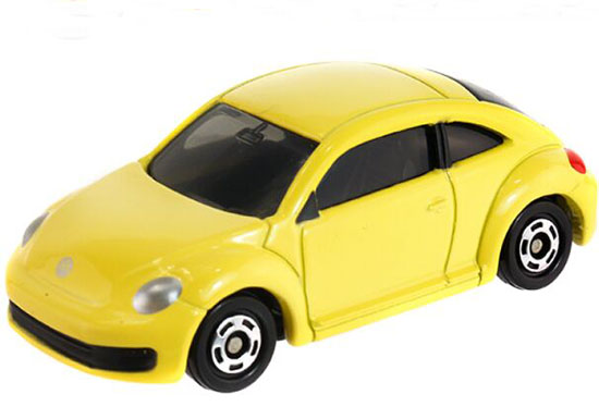 Yellow 1:66 Tomy Tomica Kids NO.33 Diecast VW Beetle Toy
