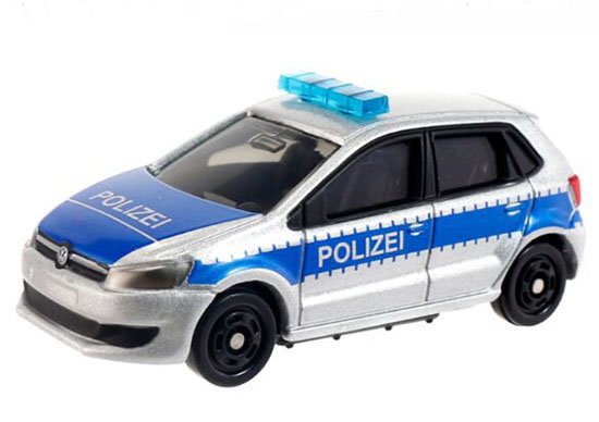 Silver-Blue 1:62 Kids NO.109 Diecast VW Polo Police Car Toy