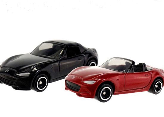 1:57 Scale Black / Red Kids NO.26 Diecast Mazda Roadster Toy