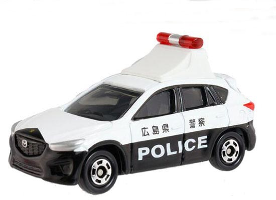 1:66 White-Black NO.82 Kids Diecast Mazda CX-5 Police Car Toy