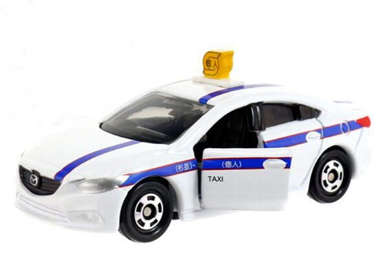 1:66 Scale White NO.62 Kids Diecast Mazda ATENZA Taxi Toy