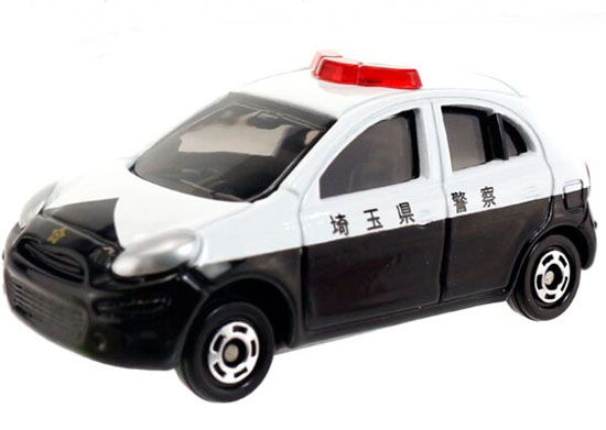 1:58 Scale Kids NO.17 Diecast Nissan March Police Car Toy