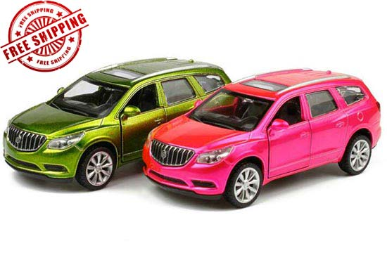 Kids 1:43 Green / Pink Diecast Buick Enclave Toy