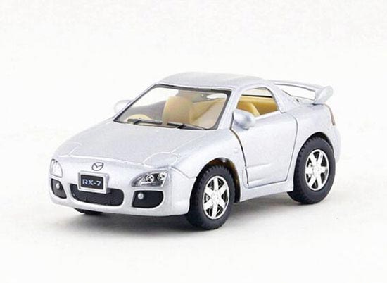 Kids Red / Yellow / Silver / Gray Diecast Mazda RX-7 Toy