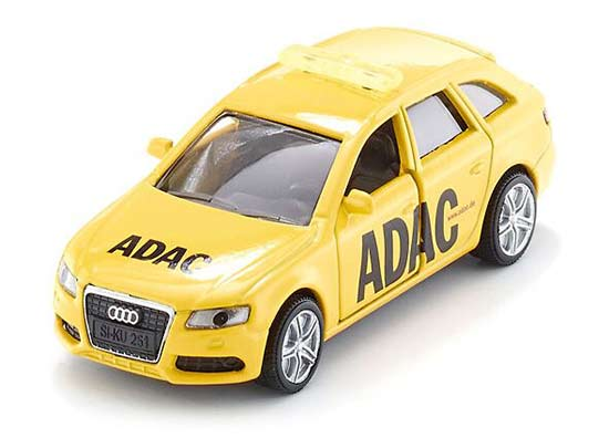Yellow Mini Scale Kids SIKU 1422 Diecast Audi A4 ADAC Toy
