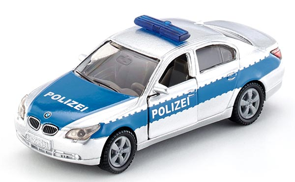 Mini Scale Kids Silver-Blue SIKU 1352 Police Diecast BMW Toy