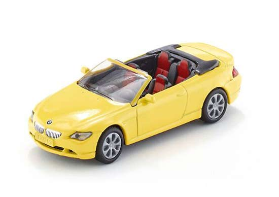 Kids Yellow Mini Scale SIKU 1007 Diecast BMW 645i Cabrio Toy