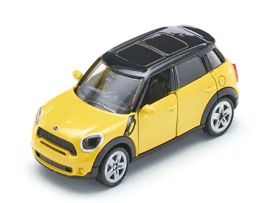 Kids Yellow SIKU 1454 Diecast Mini Cooper Countryman Toy