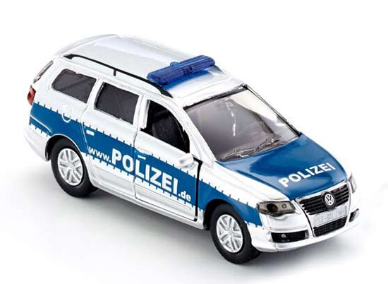 Silver-Blue Mini Scale Kids SIKU 1401 Police Diecast VW Toy