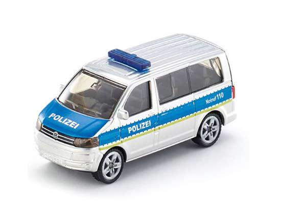 Mini Scale Silver-Blue Kids SIKU 1350 Police Diecast VW Toy
