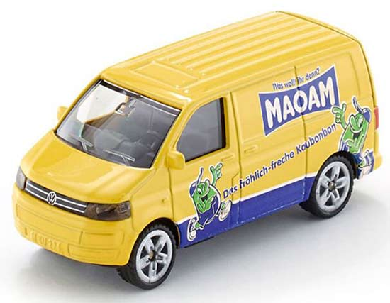 Mini Scale Yellow Kids SIKU 1338 Diecast VW Transporter Toy