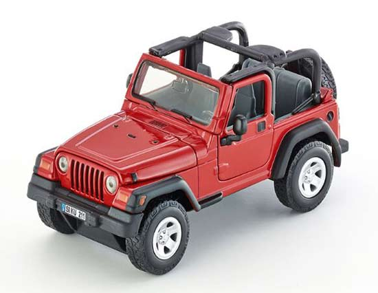 Red Kids 1:32 Scale SIKU 4870 Diecast Jeep Wrangler Toy