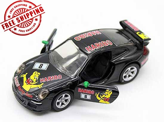 Mini Scale Black SIKU 1456 Diecast Porsche 911 Cup Race Toy