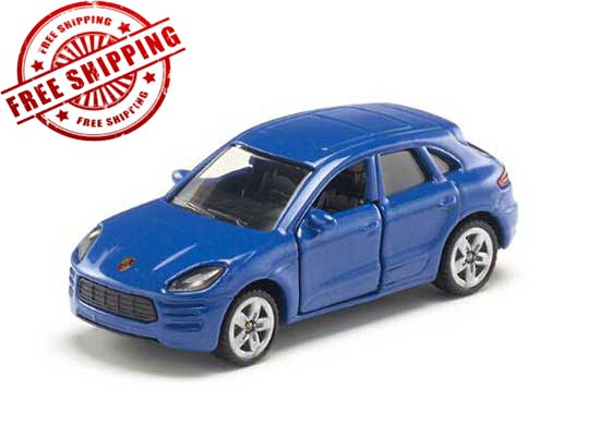 Kids Blue Mini Scale SIKU 1452 Diecast Porsche Macan Turbo Toy