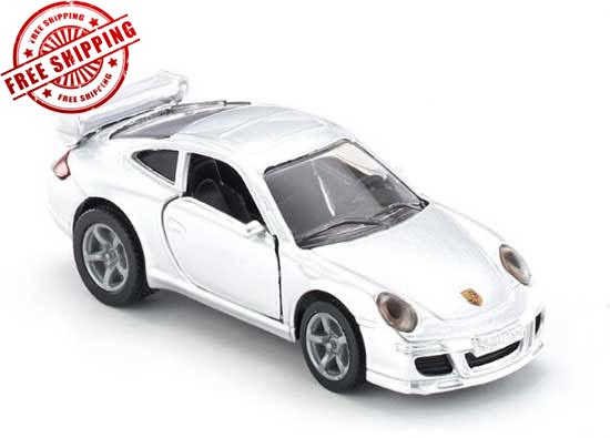 Kids Mini Scale Silver SIKU 1006 Diecast Porsche 911 Toy