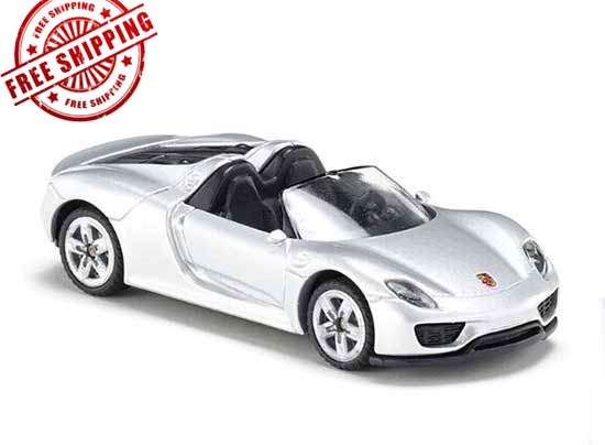 Silver Mini Scale Kid SIKU 1475 Diecast Porsche 918 Spyder Toy
